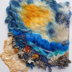 Needle felting Textile Art Wool Textile Artist Laura Conneely Irish Interiors Engagement