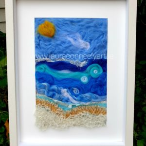 Sunshine Wool Felting contemporary craft mixed media embroidery nature Irish landscape art